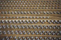 Reihen der Militärflugzeuge F-4 Lizenzfreie Stockfotos