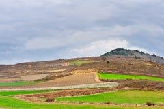 Feld in Spanien Stockbild