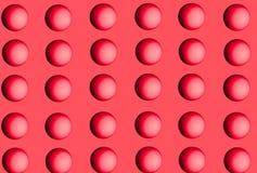 Reihen der rosafarbenen Kugeln Lizenzfreies Stockbild
