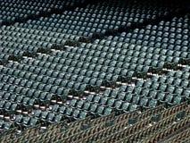 Reihen der Sitze im Stadion Stockbild