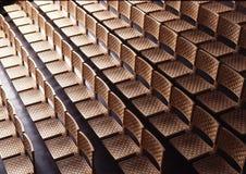 Reihen der Stühle Lizenzfreie Stockfotografie
