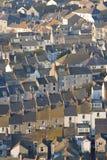 Reihen der traditionellen englischen Häuser Stockfotografie