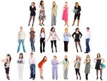 Reihen der unterschiedlichen Leute Lizenzfreies Stockfoto