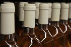Reihen der Weinflaschen Lizenzfreies Stockfoto