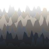 Reihen des Graus färbten Diagramm mit Spitzen der verschiedenen Höhe Stockfotos