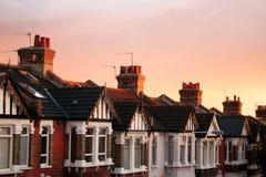 Reihen-Häuser Stockfotografie
