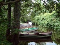 Reihen-Reihen-Reihe der Boote stockbilder
