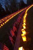 Reihen von Gräbern an Gettysburg-Himmelskörper Stockfotografie