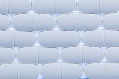 Reihen von weißen Pillen Stockfotos