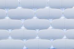Reihen von weißen Pillen Lizenzfreie Stockfotos