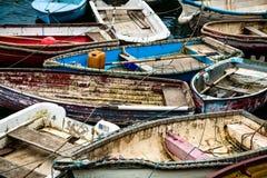 Reihenboote in Mevagissey Stockfoto