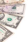 Reihenfolge von Dollarbanknoten Lizenzfreie Stockfotos