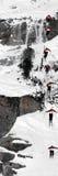 Reihenfolgen-Skifahren-Konkurrenz lizenzfreies stockfoto
