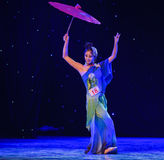 Reiki蛇中国古典舞蹈诞生  免版税库存照片