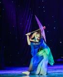 Reiki蛇中国古典舞蹈诞生  图库摄影