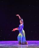Reiki蛇中国古典舞蹈诞生  免版税库存图片