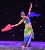 Reiki蛇中国古典舞蹈诞生  库存图片