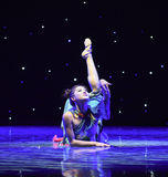 Reiki蛇中国古典舞蹈迷人的这诞生  库存图片