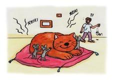 Reiki Cat Bruno (2007) Immagini Stock