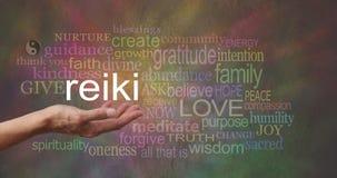 Reiki dans la paume de votre main Photographie stock