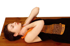 Reiki energy neck position Royalty Free Stock Photo