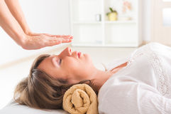 Reiki healing Stock Photos