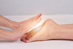 Reiki healing treatment , alternative  medicine concept. Stock Image