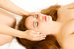 Reiki and massage healing hands Royalty Free Stock Photo