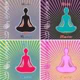 Reiki Master Set. Colorful Reiki Master Vector Set Royalty Free Stock Photos