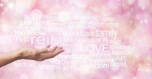 Reiki na palma de sua mão Fotografia de Stock