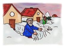 Reiki-Schnee-Chaos (2007) Lizenzfreies Stockfoto