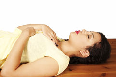 Reiki self-healing, heart position Royalty Free Stock Photo