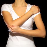 Reiki som läker behandling, terapi mot, smärtar och spänning, sjukgymnastik, övningar arkivbilder