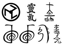 Reiki Symbole Stockfoto