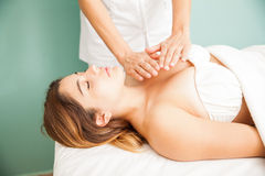 Reiki therapy at a health spa Royalty Free Stock Photography