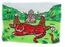 Reiki Tiger India (2007) Fotografia Stock Libera da Diritti