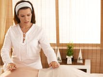 Reiki treatment royalty free stock photography