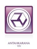 Reiki YIN Ikone Symbol lizenzfreie abbildung