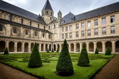 Reims: Abbaye hjälpHommes, Champagne, Frankrike Royaltyfri Bild