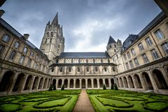Reims: Abbaye Hommes aux., Champán, Francia Imágenes de archivo libres de regalías