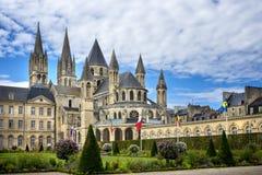 Reims: Abbaye Hommes aux., Champán, Francia Imagen de archivo