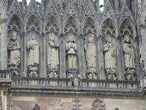Reims Cathederal, Francja Obraz Royalty Free