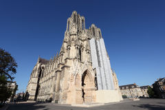 Reims Cathedral in France Stock Photography