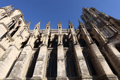 Reims Cathedral in France Royalty Free Stock Images