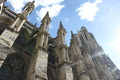 Reims cathedral in France. Gothic architecture is gorgeous Royalty Free Stock Images