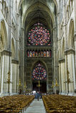 Reims Cathedral inside Stock Image