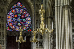 Reims Cathedral inside Stock Images