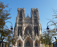 Reims cathedral Stock Photo