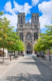 Reims, France. Old gothic cathedral of Reims, France, one of the first and greatest cathedrals in history Royalty Free Stock Photos