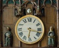 REIMS FRANKREICH AUG 2018: Uhr der Kathedrale von Reims Es ist der Sitz der Erzdiözese von Reims, in der die Könige von Frankreic lizenzfreie stockbilder